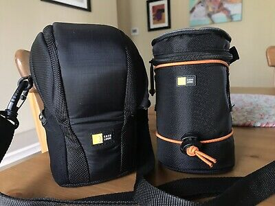 Two Case Logic Camera Lens Cases Bags DSL-101 Luminosity & SLRA-1