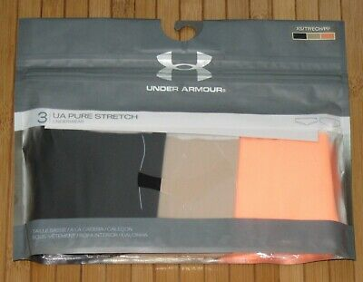 c317bffe6ea6 3Pk Under Armour UA Women Pure Stretch Hipster Seamless Panties Multi Color  XS