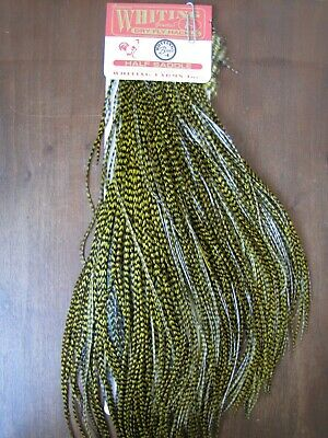 Angelsport-Köder, -Futtermittel & -Fliegen Fly Tying Whiting Bronze Rooster Midge Saddle Grizzly dyed Olive #A