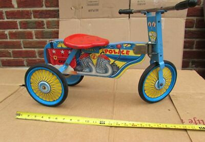Vintage Police Policeman Toy Childs Tricycle Trike Scooter Pedal Car type
