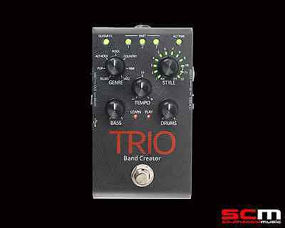Digitech Trio Band Creator Guitar FX Pedal A Band Inside a Stomp Box w/ Warranty