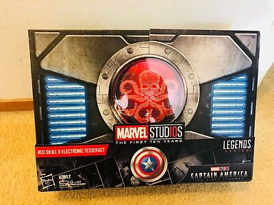 SDCC 2018 Hasbro Marvel Legends Series Red Skull Figure & Electronic Tesseract
