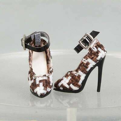 shoes for Fashion royaltyⅡ  FR2 poppy parker Ob Obitsu doll brown white block