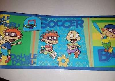 """5.5/"""" Rugrats tommy chuckie  sports basketball prepasted wall border cut out"""
