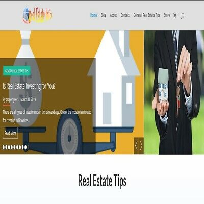 Real Estate Wordpress Website /woocommerce and WP Commission Machine plugin incl