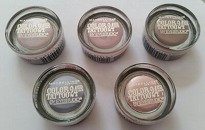 5 PIECES MAYBELLINE Color Tattoo 24 Hr Eyeshadow \