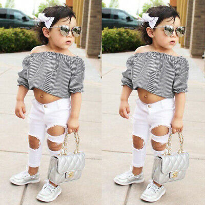 Fashion Toddler Baby Girls Summer Tops+Long Pants Leggings Outfits Clothes Set