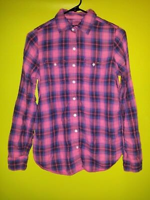 Super Cute/Sexy Plaid Button Front Shirt by PINK for Victoria's Secret, Size XS