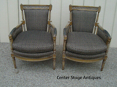 59239  Pair Vintage Bergere Armchair Chair Chair s