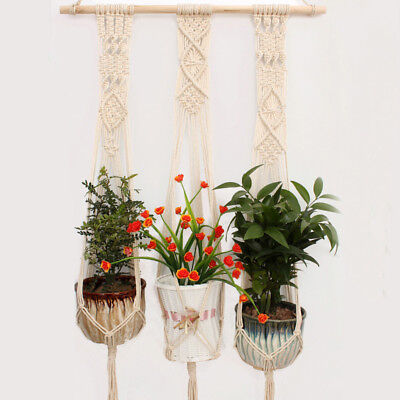 Mkono Colorful Macrame Plant Hanger Indoor Outdoor Hanging Planter