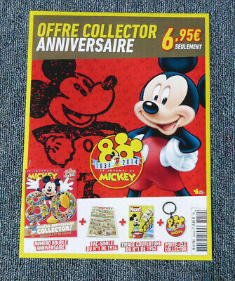 LE JOURNAL DE MICKEY ANNIVERSAIRE 80 ANS COLLECTOR LUXE neuf sous blister