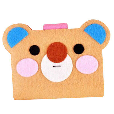 Non-woven Fabric Felt Applique Ornament Kit Felt Cute Bear Card Holder Bag