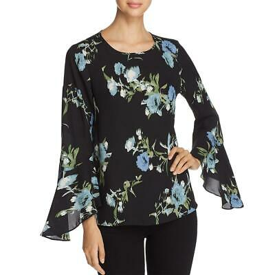Vince Camuto Womens Green Textured Ruffled Bell Sleeves Blouse Top XS BHFO 0871