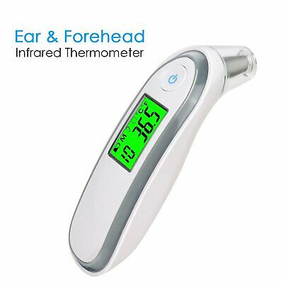 Qumox Ear Thermometer IR Infra-Red Digital LCD In-Ear Temperature Grey