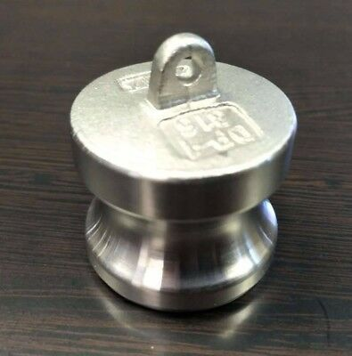 """1"""" Inch Camlock Fitting Type DP 316 Stainless Steel Camlock Dust Plug"""