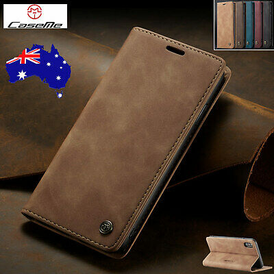For Huawei P30/P30 Pro Vintage Magnetic Leather Flip Wallet Case Card Slot Cover
