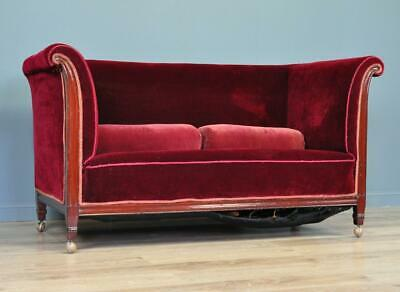 Attractive Antique Edwardian Sofa Couch Settee For Reupholstery