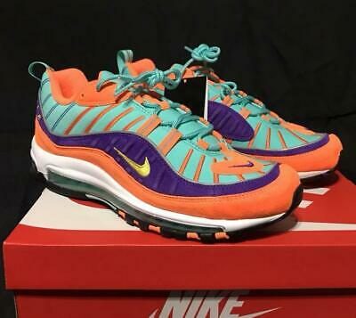 finest selection db978 06148 Men 9Us Nike Air Max 98 Qs Cone Vibrant