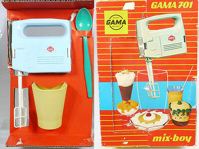Gama 701 Set Mix Boy Hand Mixer Kinder Küche original 50er MIB OVP 1401-23-08