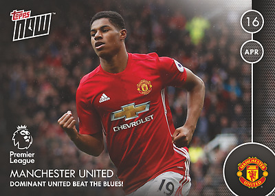 TOPPS NOW! 92 Premier League 2016/2017 MARCUS RASHFORD MANCHESTER UNITED MAN UTD