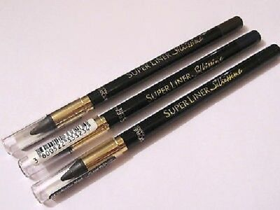 3 x L'Oreal Superliner Silkissime Waterproof Eyeliner | Seductive Black