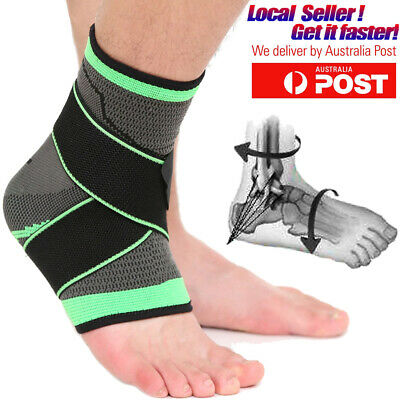 Ankle Support Brace Compression Foot Wrap Socks Tendon Arch Achilles Stabiliser
