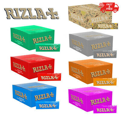RIZLA BLUE RED SILVER GREEN Regular/Standard Rolling Tobacco Smoking Paper Skins