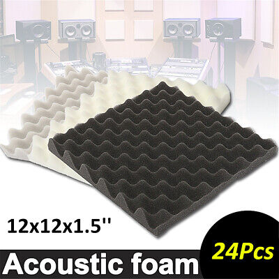6/12Pcs 30x30x4cm Soundproofing Acoustic Egg Foam Studio Sound Absorption Panel