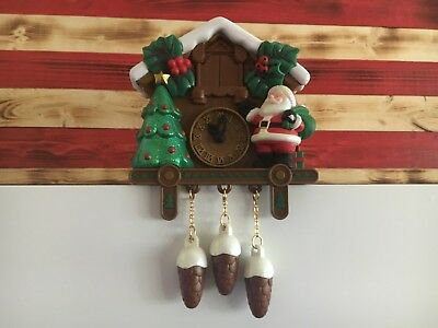 Vintage Kurt Adler 1998 Musical Christmas Cuckoo Clock Santas Action World