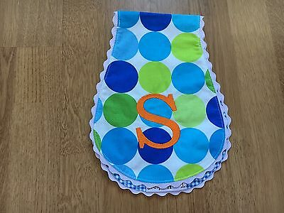 Embroidered Drool Cloth /Burp Cloth By Two Monkeys S
