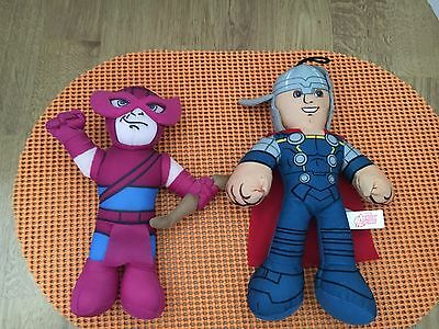 "Marvel Avengers Mighty Thor And Hawkeye 9"" Stuffed Plush"
