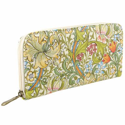 Ladies Flower Fabric Purse/Wallet Design By William Morris Golden Lily 100% Cott