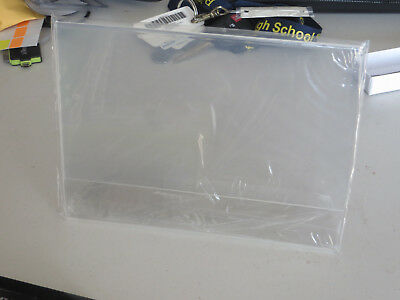 "Lot of 2 8"" x 6"" Clear Acrylic Slant Back Sign Holder / Photo Frames"
