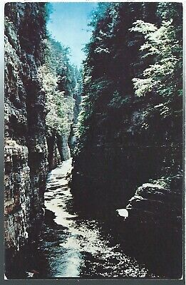 Ausable Chasm New York NY Chrome Table Rock Vintage Postcard Dexter Press