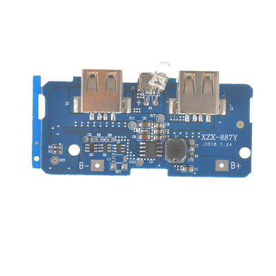 5V 2A PowerBank Charger Board Charging Circuit Step Up Module Dual USB Output Lc