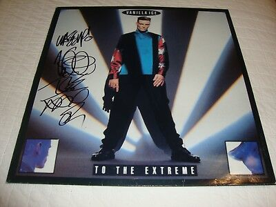 """Rob Van Winkle"" Vanilla Ice To The Extreme Autographed LP Nice!"