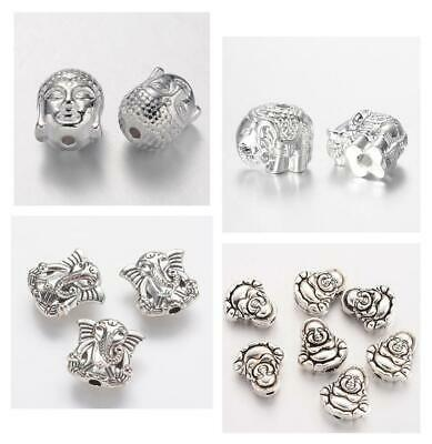 Tibetan Silver Buddha Spacer Beads Charms Choice Top Quality