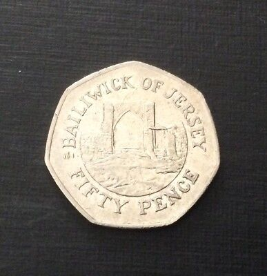 50p Coin 2006 Bailiwick Of Jersey Grosnez Castle FREEPOST