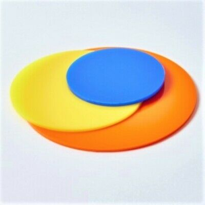 Round Acrylic Circles, Rounds, Discs, 3mm, Perpex, Pastel, Satin, Frost, Neon