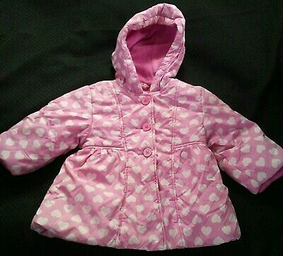 d6d9ab91 CHILDREN'S PLACE Toddler Baby Girls 6 -12 mos. Hooded Pink Winter Coat w/