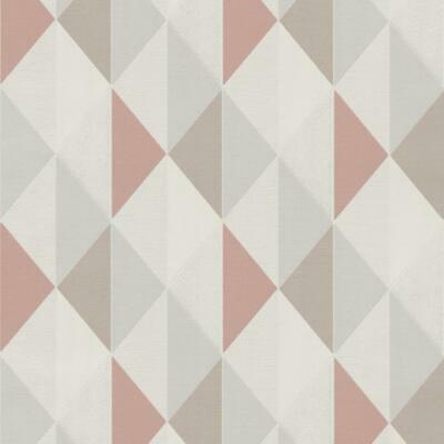 Orion Dusky Pink Geometric Triangles Wallpaper Paste The