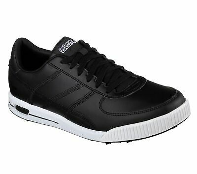 New Skechers Go Golf Drive Golf Tour Spikeless Black Shoes Water Resistant 54530