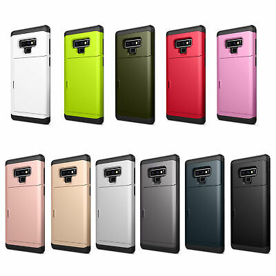Shockproof Case For Samsung Galaxy NOTE 9 Hybird Card Wallet Rugged Bumper Cover