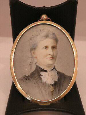 Miniature Portrait Of Mary Beale In Pocket Watch Style Frame