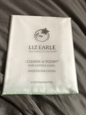 Liz Earle Cotton Muslin Cloths (2) Wrapped New Use With Cleanse And Polish