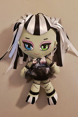 "Mattel MONSTER HIGH 10"" Plush Ribbon Hair Doll, Frankie Stein - PreOwned"