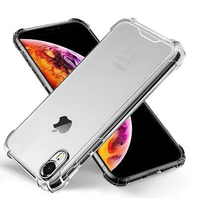 iPhone XR Case Shock Proof Crystal Clear Protective Silicone Gel Bumper Cover
