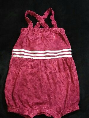 ADIDAS Baby Girls Overall Romper One Piece Suit Age 9-12 Months  BNWT