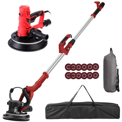 VIVOHOME 750W/850W Electric 7-Speed Handheld Drywall Sander Machine & Vacuum LED