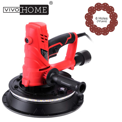 VIVOHOME 850W Electric Handheld 7-Speed Drywall Sander Machine with Vacuum & LED